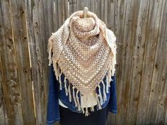 Cappuccino Triangle Shawl, free #crochet, pattern, wrap, #haken, gratis patroon (Engels), omslagdoek, #haakpatroon
