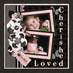 Cherished  Loved - JAT Baby Scrapbook Pages, Kids Scrapbook, Wedding Scrapbook, Scrapbook Page Layouts, Scrapbook Sketches, Scrapbook Templates, Scrapbooking Ideas, Scrapbook Cards, Digital Scrapbooking