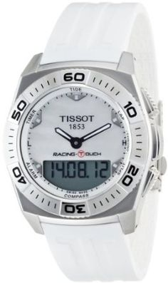 Tissot Mens T002.520.17.111.00 White Mother-Of-Pearl Dial Racing Touch Watch