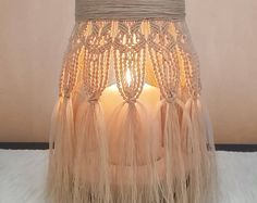 Macrame vase lantern, centerpieces, gift ideas, home decor