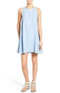 Rails 'Anya' Check Chambray Shift Dress available at #Nordstrom