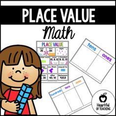 Math place value mats and poster FREE! You can use the poster to teach and review place value terms. The place value mats are great for student practice as well as for teacher demonstration. I hope you enjoy! ❤ COMMON CORE STANDARDS