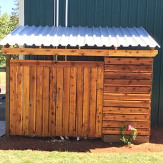 Exceptionnel A Nice Way To Hide Your Swimming Pool Pumps, Garbage Cans Or Yard  Furniture. A Cedar Outbuilding Added To The Side Of Your Existing  Garage/shop/home. Design ...