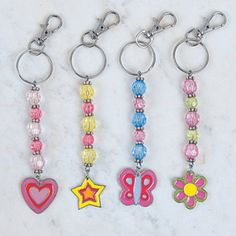 Beaded Charm Keychain Clips                                                                                                                                                                                 More