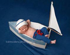 Sailor nouveau-né Photo Prop / chapeau nouveau-né nautique