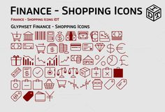 Finance - Shopping Icons + Web Font by Idette Designs™ on Creative Market