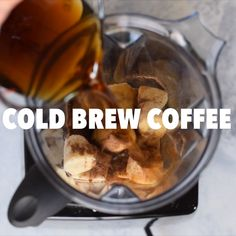 Start your day with a healthy energy boost from a dairyfree sugarfree cold brew smoothie Enjoy your smoothie alongside breakfast or add extra fat and protein to make it a meal # Coffee Smoothie Recipes, Mocha Smoothie, Healthy Breakfast Smoothies, Easy Smoothies, Smoothie Drinks, Fruit Smoothies, Coffee Recipes, Healthy Drinks, Healthy Recipes