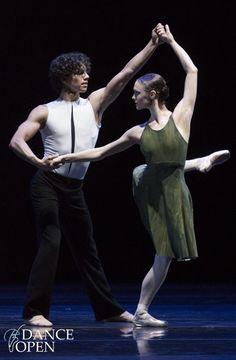 Jurgita Dronina and Isaac Hernandez (Dutch National Ballet) performing Hans van Manen's Dance with Harp at Dance Open 2014. Photo by Stas Levshin