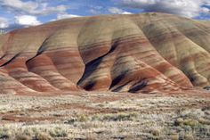 Painted Hills in Oregon Stock Image