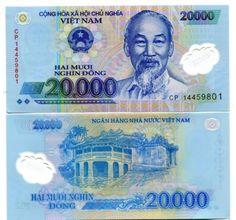 Vietnam Polymer dong 2014 prefix 14 Pick # 122 UNC (L Vietnamese Dong, Money Notes, City Drawing, Prefixes, Ho Chi Minh City, Covered Bridges, New Print, Coat Of Arms, History