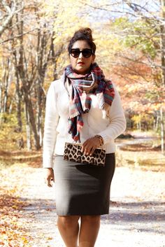 Fall style #plaid an