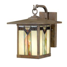 Frank Lloyd Wright / Tiffany style outdoor wall light $64.98