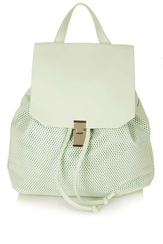 We need to get our hands on this Soft Perforated Backpack by Topshop
