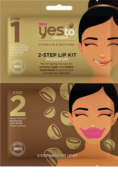 Yes to going coo coo for coconut, sugar and sodium hyaluronate to plump and smooth lips naturally.