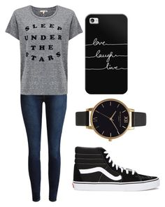 """Chill"" by fangirlmendes on Polyvore featuring Sundry, Vans, Casetify and Olivia Burton"