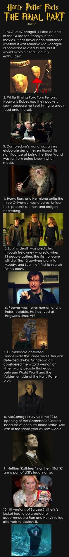 Facts You Didn't Know About Harry Potter Part 1