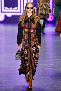 Catwalk photos and all the looks from Anna Sui Autumn/Winter 2016-17 Ready-To-Wear New York Fashion Week