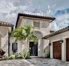 "The Sater Design Collection's luxury, Tuscan home plan ""Monterchi"" (Plan #6965). saterdesign.com"