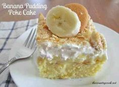 Banana Pudding Poke Cake~Ingredients:1 (10 oz.) box yellow cake mixingredients needed to make cake (eggs, oil & water)2 (3.4 oz.) packages instant banana pudding4 cups milk1 (8 oz.) tub frozen whipped topping, thawed20 vanilla wafers, crushedDirections:Prepare cake mix according to package directions for a 9x13 cake.Once cake comes out of the oven, allow it to cool for just a couple of minutes.Then, with a wooden spoon handle or some other similarly-sizedobject, begin poking holes in the cake.You want the holes to be fairly big so that the pudding has plenty of room to get down in there.Be sure to poke right down to the bottom of the cake.In a bowl,whisk together instant pudding with 4 cups milk.Stir until all the lumps are gone.Let the pudding sit for just about 2 minutes, so it has just slightly begun to thicken but not fully set, it should still be easily pourable.Pour pudding over cake. Taking care to get it into the holes as much as possible.Spread it all out and using the back of the spoon gently push pudding down into the holes.Put the pudding into the fridge to set and cool.Once your cake has completely cooled, spread on whippedtopping.If you haven't done so already, crush your vanilla wafers.I just place mine in a ziploc bag and crush them with a rolling pin.Leave some of the pieces big. It's nice to have a bit of a crunch when you eat the cake.Spread crushed wafers onto the top of the cake. You can do this part immediately before serving the cake if you like.This will ensure the wafers are Crunchy when you serve it.I think this cake gets more delicious over time.To me, it's even better the next day so it's a great dessert to make ahead of time.Serve with freshly sliced bananas. Keep refrigerated.If you have any questions please feel free to message me or call /text 903-271-0615 me or visit my website www.pamperedchef.kayblack for all your Pampered Chef needs!