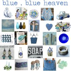 Blue blue heaven by belinda-evans on Polyvore featuring art