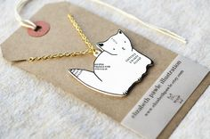 necklace on a gift tag