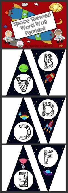 Space Themed Word Wall Pennant Go out of this world with this space themed word wall letter pennant. Space Theme Classroom, Future Classroom, Classroom Decor, Word Wall Letters, Letter Wall, Pet Shop Boys, Outer Space Decorations, Space Words, Outer Space Theme