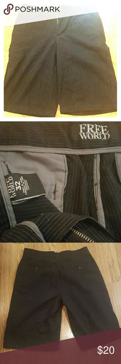 Free World pinstripe shorts Black pinstripe Free World shorts, great used condition, hardly worn. free World  Shorts
