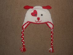 Valentine Puppy Hat ToddlerChild by CaseyElswick on Etsy, $22.00