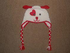Valentine Puppy Hat ToddlerChild by CaseyElswick on Etsy, $22.00