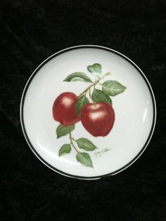 Gary Collins China painted apples.