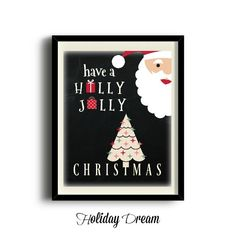 Digital Chalkboard Have A Holly Jolly Christmas by HolidayDream