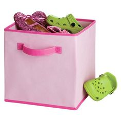 Circo Fun Pink Fabric Drawer About $6.00 Each (under 13 Inches In Height  And Width. Pink Storage BinsToy ...