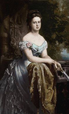 Portrait of Grand Duchess Maria Alexandrovna of Russia (1853-1920), after her marriage with prince Alfred, the second son of queen Victoria, duchess of Saxe-Coburg and Gotha and duchess of Edinburgh by painter Gustav Richter (1873)