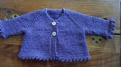 I've heard that having clothes that really fit a tiny preemie can be a boost to the spirits. This top-down, seamless raglan cardigan is scaled down for Preemie sizes. It measures 13.75/15/16 inches at the chest and the sleeves are narrower than on a typical newborn sweater, to allow for a preemie's slender arms. It would also make a good doll sweater--the smallest size is pictured on an American Girl Bitty Baby. It can be finished with your choice of 3/4 or full-length sleeves, and either…