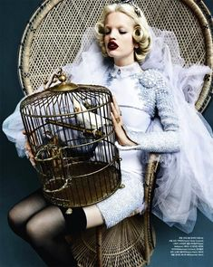 Daphne Groeneveld by Rafael Stahelin for Vogue Korea April 2012 as 'Mystic Blue'