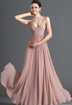 Beautiful pink evening dress - Relaxed, sensual beauty... and gorgeous transparency