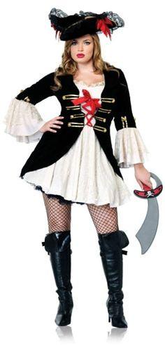 Veja mais informações de Fantasia Capitã Pirata Preta Plus