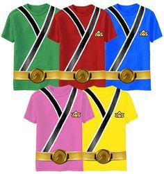 Child Toddler TV Show Power Rangers Samurai Ranger Monster Costume T Shirt Shirt | eBay