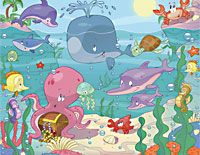 Baby Sea Scene Childrens Bedroom Wallpaper Ideal bedroom wall scene, bring the sea to life with all the sea creatures in one place ideal nursery or bedroom wall mural for any childs room Childrens Bedroom Wallpaper, Nursery Wallpaper, Animal Wallpaper, Wallpaper Ideas, Sea Nursery, Nursery Wall Murals, Nursery Themes, Nursery Ideas, Themed Nursery