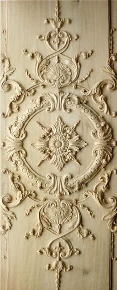 Something smaller scale but this is a wooden applique for cabinets in bathrooms Agrell Architectural Carving: French, Versailles, Louis XIV hand carved panel Versailles, Louis Xiv, Wood Carving Designs, Paperclay, French Decor, Architectural Elements, Architectural Sketches, Architectural Photography, Architecture Details