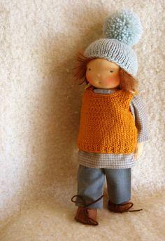 Waldorf  boy doll Fran 12 inch/30 cm by Puppula by Puppula on Etsy, $185.00
