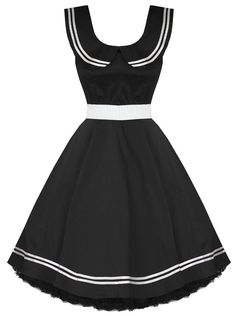 H Heidi Sailor Dress Black ~ Gothic Sailor... I can rock it.
