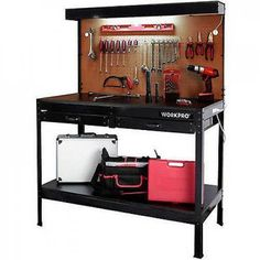 Workbench with Work Light Garage Bench Home Workshop Craftsman Tools Table NEW #GarageWorkbenchwithLight
