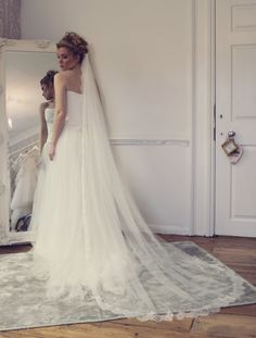 Hey, I found this really awesome Etsy listing at https://www.etsy.com/listing/179740122/cathedral-length-veil-french-lace-and