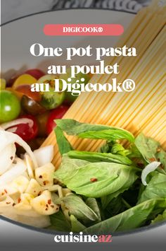 Rien de plus facile et rapide qu'un one pot pasta au Digicook® ! Ici, les pâtes sont cuites avec du poulet et des tomates.  #recette#cuisine#robotculinaire#Digicook#moulinex #pates #onepotpasta #poulet #tomate