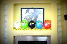 Balloon decorations at a Ninjago Party #ninjago #party