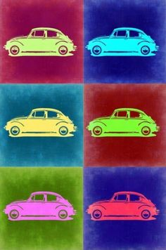 VW Beetle Pop Art - Click to own this unique art today. Such a talking point!