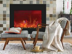 """Amantii Zero Clearance Series 39"""" Electric Fireplace ZECL-39-41-34"""