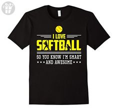 Mens I Love Softball I'm Smart Awesome Funny Shirt Gift 2XL Black - Funny shirts (*Amazon Partner-Link)