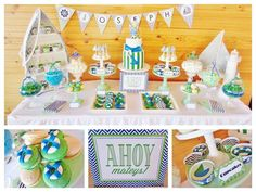 Nautical Themed Green and Blue Chevron Party. Brighten your evening with a cheery seaside glow; just add a votive inside this miniature lighthouse and enjoy the ambiance! Quaint metal sculpture makes a pretty display, even during the day. The Lookout Lighthouse Candle Lamp is the ideal decorative lamp   #timelesstreasure